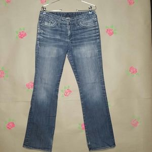 Lucky Brand Lola Boot Distressed Jeans Size 12 /31